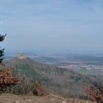 Blick auf die Burg Hohenzollern vom Backofenfelsen